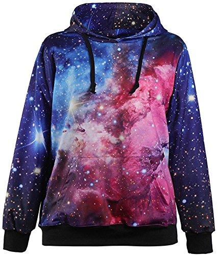 3D Sweatshirts Print Black Hole Stars Space Galaxy Hooded Hoodies Pullovers