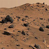 Terrain of the terrestrial planet Mars